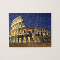 Shop Roman Colosseum, Rome, Italy 2 Jigsaw Puzzle created by prophoto. Indoor Games, Indoor Activities, Animal Skulls, Family Games, Activity Games, Rome Italy, Vacation Trips, Pink And Green, Jigsaw Puzzles