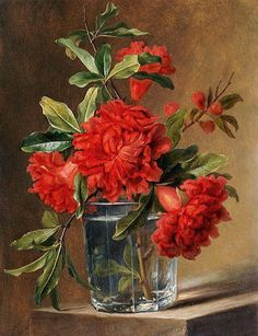 Red Carnations - Cross stitch pattern pdf format