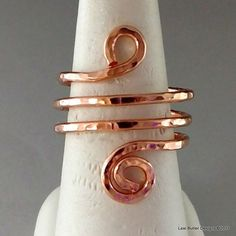 Handmade Jewelry by Montana Made Wire Sculpting Artist Lexi Butler Copper Rings, Copper Jewelry, Copper Wire, Jewelry Rings, Jewelery, Boho Chic, Handmade Jewelry, Jewelry Making, Beads