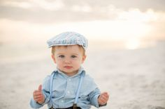 Little boy's hot air balloon photo shoot at the beach by Kansas Pitts Photography | Two Bright Lights :: Blog