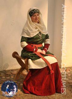 XI-XIV - Rus - Silk naviershnik with silk hems