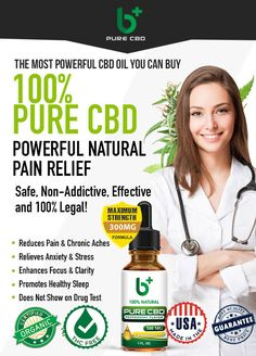 B+ PURE CBD Doctor Advice, Natural Pain Relief, Cbd Hemp Oil, Healthy Sleep, Medical Prescription, Alternative Medicine, Medical Conditions, Stress And Anxiety, Chronic Pain