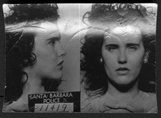 """Police mugshot of Elizabeth Short, the woman known as """"The Black Dahlia."""""""