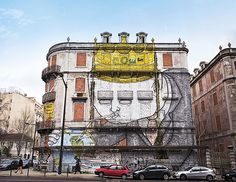 The Art of the New Lisbon - via SilverKris - The Travel Magazine of Singapore Airlines 24.02.2015 | The Portuguese capital fuses a captivating mix of passion and creativity that's sparking its regeneration. Photo: Italian street artist Blu used an abandoned building on Av Fontes Pereira de Melo as a canvas for his work.