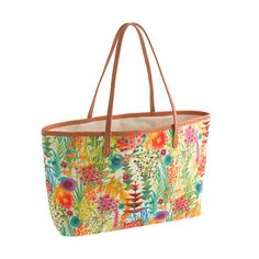 Spring Accessory Trend – Floral Prints @J.Crew tote bag