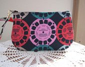 Smart phone View-Master Reels in Navy Case Gadget Pouch Clutch Wristlet Zipper Gadget Pouch - pinned by pin4etsy.com