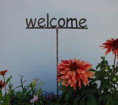 Garden stake   Metal Garden Sign YOU choose the by metalgardenart, $9.95