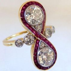 Edwardian Diamond & Ruby Ring