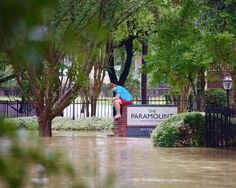 Houston TX  The last 5 days has been just surreal like I am in a movie. Non-stop rain and rising flood waters in the Addicks area where I live had my neighbors and myself helpless and in edge. I had to capture moments to take my mind of losing my car and possibly everything in my apartment. This image of a neighbor is exactly how we all felt. . . . . . . . . . . . . . . . . . . . . . . . . #bayleaforiginals #houston #texas #houston_photographers #houston_insta #houstonpulse…
