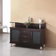 Virtu USA Vincente 55-in. Espresso Single Bathroom Vanity MS-55 - MS-55-G-ES
