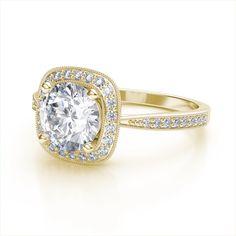 18 Best Unique Images On Pinterest Yellow Diamond Engagement