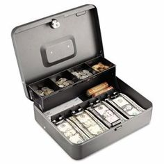 Steelmaster Tiered Cash Box with Bill Weights, Cam Key Lock (MMF2216194G2)