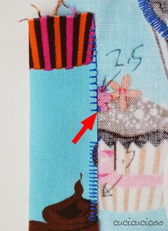 Learn to Sew: How to applique with a sewing machine, both symmetrical and non-symmetrical shapes, with the zig zag stitch, satin stitch or blanket stitch (aka applique stitch)   www.cucicucicoo.com