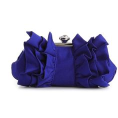 Lulu Townsend Ruffle Clutch - Taupe ($30) ❤ liked on Polyvore