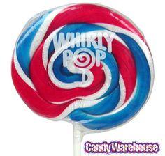 Patriotic USA Whirly Pops: 24-Piece Display