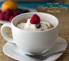 Low Carb Meyer Lemon Berry Mug Cake Recipe from www.itsyummi.com @It's Yummi! (Cooking with Chef Bec)