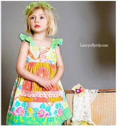 Granny's Attic Collection  Millie Apron dress by LottieDaBaby, $48.00 Love this!  Giving me inspiration for a new flower.....  ; )