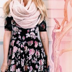 """@Urban Outfitters's photo: """"Pretty in pink. #eternityscarf #velvet #cozy #uoonyou #urbanoutfitters"""""""