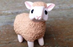 Sheep: Handmade miniature polymer clay animal figure USD) by AnimalitoClay Sculpey Clay, Polymer Clay Figures, Polymer Clay Sculptures, Polymer Clay Animals, Polymer Clay Miniatures, Polymer Clay Charms, Polymer Clay Creations, Sculpture Clay, Polymer Clay Art