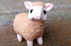 ~mini polymer clay sheep~