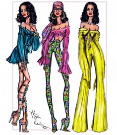 #BadGalRiri in #WildThoughts #IslandVibes @hayden_williams #FashionIllustrations| Be Inspirational ❥|Mz. Manerz: Being well dressed is a beautiful form of confidence, happiness & politeness