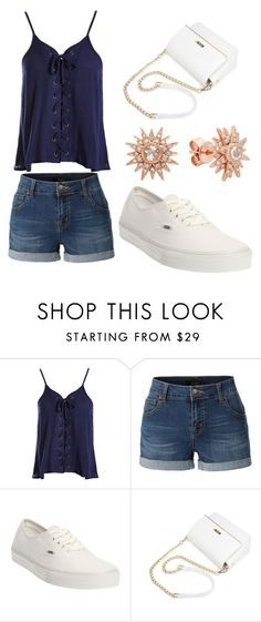 """bff birthday outfit"" by art-fashion ❤ liked on Polyvore featuring Sans Souci, LE3NO, Vans and Kenza Lee"