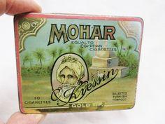 "1920s ""Mohar"" Kressin Turkish Cigarette tobacco tin"