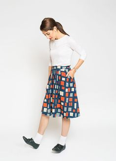 Free vintage skirt sewing pattern - Peppermint
