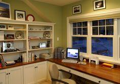 Домашний офис напротив окна: 57 практичных решений для рабочего стола + удобные системы хранения