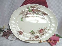 Harvest Time-Brown-Multi by Johnson Brothers 1 Oval Serving Platter #Johnsonbrothers #JohnsonBrothersEngland