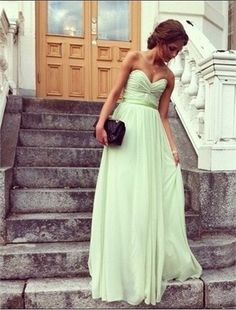 LOVE. love the color and would even be great as a wedding gown, let alone a bridesmaids dress