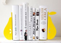 Bookends Yellow pears unique stylish and by DesignAtelierArticle, €34.00