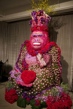 Floral King Kong sculpture - appropriate for the venue