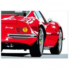 SPEED ICONS: Ferrari Dino 246GT - Print