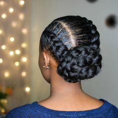 Goddess braids goddessbraids stunning goddess braids styles goddess braids inspiration french goddess braids 25 must have goddess braids hairstyles stylesrant goddessbraids 25 must have goddess braids hairstyles stylesrant goddess braids bun Updo Cabello Natural, Natural Hair Braids, Braids For Black Hair, Goddess Braid Bun, Goddess Braid Styles, Goddess Hair, Box Braids Hairstyles, Protective Hairstyles, Wedding Hairstyles