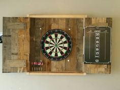 Dart Board Cabinet made with Pallets