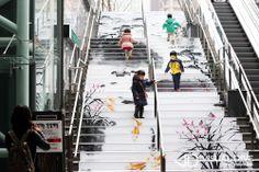 [포토] 계단만 오르면 저절로 기부가 된다? 기부하는 건강계단 #health / #Infographic ⓒ 비주얼다이브 무단 복사·전재·재배포 금지