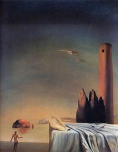 Salvador Dali Oil Painting - The Dream Approaches