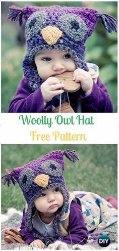 The Stitching Mommy: Crochet Woolly Owl Hat Free Pattern - Crochet Ear ...