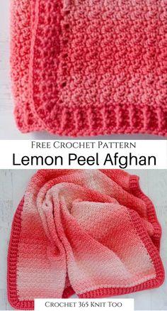 Baby Afghan Crochet, Afghan Crochet Patterns, Crochet Stitches, Crochet Hooks, Free Crochet, Knit Crochet, Baby Afghans, Baby Cardigan Knitting Pattern Free, Ombre Yarn