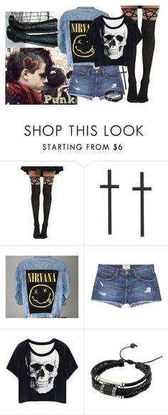 """Nirvana"" by stream5 ❤ liked on Polyvore featuring Hot Topic and Current/Elliott"