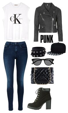 """""""Punk"""" by kaitlynjanelle02 ❤ liked on Polyvore featuring Calvin Klein, Charlotte Russe, Topshop, Chanel and Valentino"""