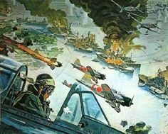 "Some of Robert McCall's artwork done for ""Tora! Tora! Tora!"""