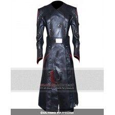 Captain America Avenger Red Skull Trench Leather Coat   Costume
