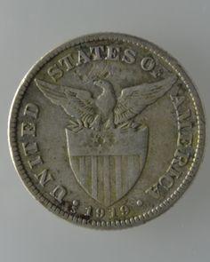 U.S. Philippine 1919-S, 50 Centavos Silver Coin- (2 Silver Coins)