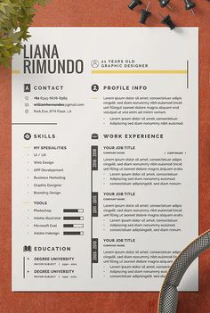 This is a awesome Resume/CV Template for you who looking for job application. Resume Cover Letter Template, Resume Design Template, Cv Template, Letter Templates, Resume Templates, Resume Layout, Resume Cv, Graphic Design Resume, Portfolio Design