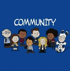 Community as Peanuts. Cute.
