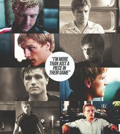 Peeta. Josh, your such an amazing actor. You actually bring the characters alive. You don't know how much respect I have for you just for that face.