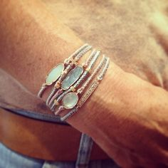 Brooke Gregson Ellipse and Icicle bracelets