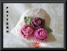 Knitting Pattern for A Baby HatChildren by CottonPickings on Etsy, $4.99
